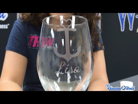 TRW Lab: How to Design and Create A Custom Etched Wine Glass With Your Silhouette!