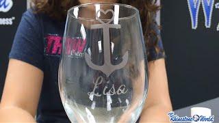 TRW Lab #8: Comment Concevoir Et Créer Un Personnalisé Gravé, Verre à Vin Avec Votre Silhouette!