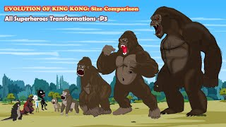 GODZILLA vs Evolution of KING KONG: Size Comparison - P3   Godzilla Animation Cartoon