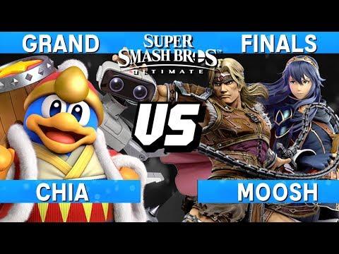 Smash Ultimate Tournament Grand Finals - Chia (King Dedede/ROB) vs Moosh (Lucina/Simon) - S@LT 166 thumbnail
