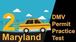 Maryland DMV Permit Practice Test 2   - 2018