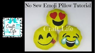 Craft Life ~ No Sew ~ Felt or Fleece Emoji Pillow Tutorial