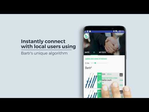 Bartr : Buy, Sell and Barter Locally. Automated Barter System.