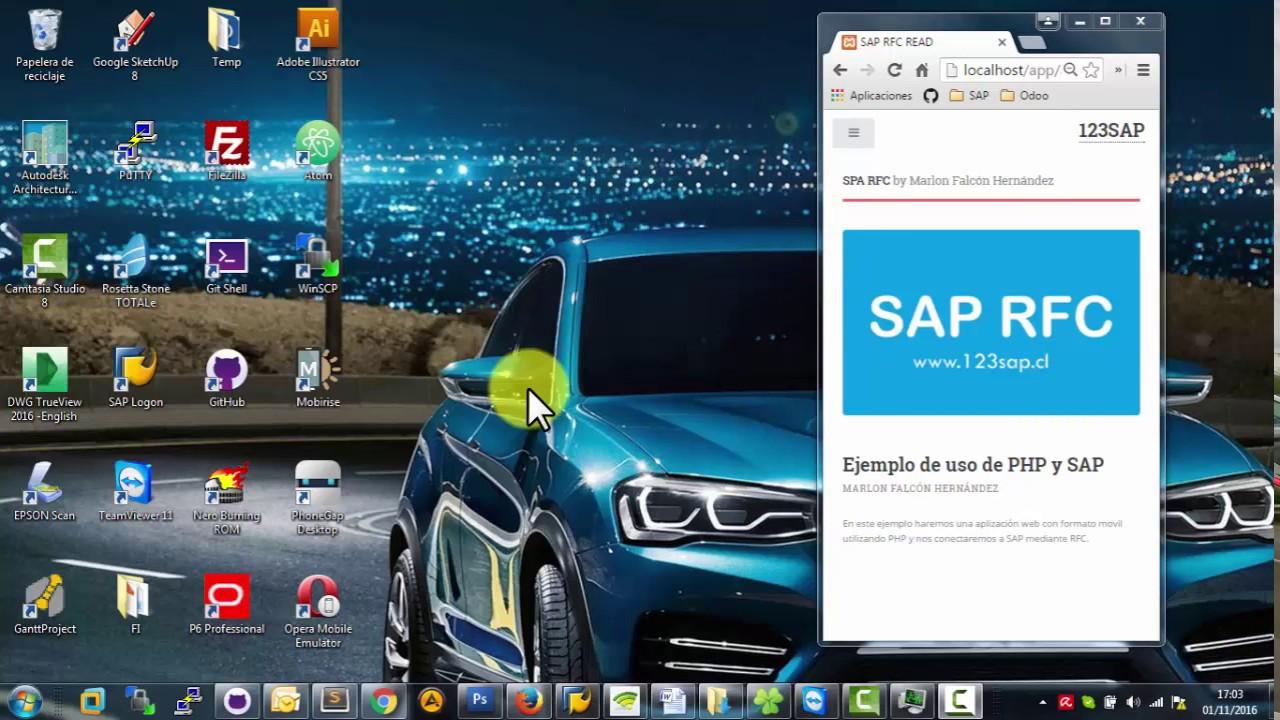 Download Conectarse a SAP R3 desde PHP usando SAPRFC