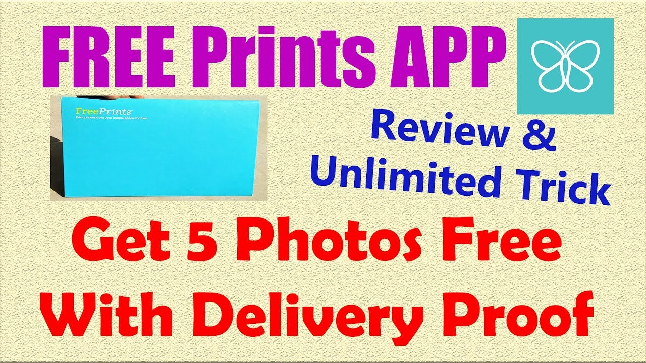 Free Prints App Review Get 5 Photos Free With Unlimited Trick Som Tips
