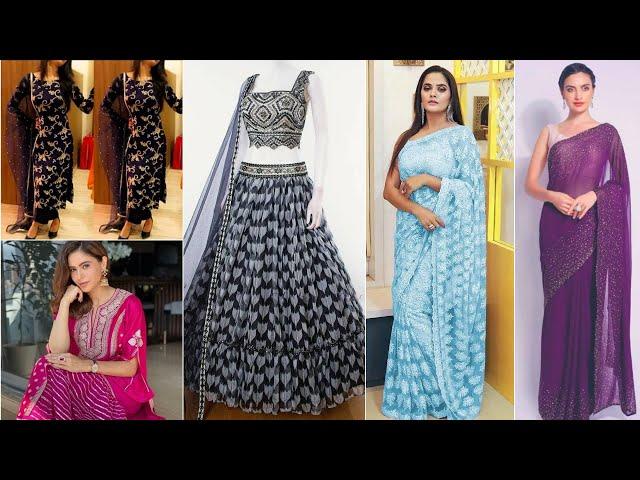 Buy Designer Collections Partywear Salwar Kameez/Net Saree/Lehenga Choli #prititrendz #lehengacholi