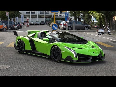 $5.0 Million Lamborghini Veneno Roadster in Switzerland – START UP & BRUTAL SOUNDS