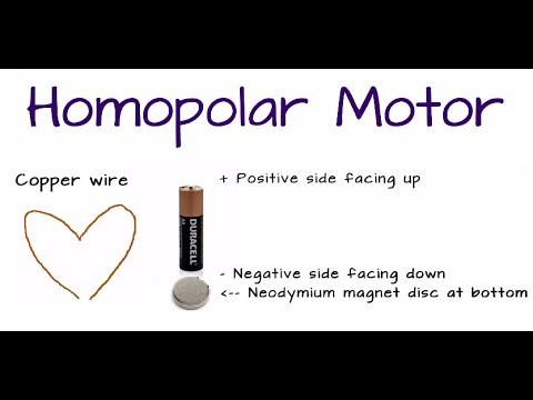 Homopolar Motor Lorentz Force Science Experiment using Neodymium Magnet