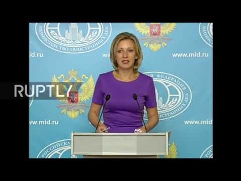 LIVE: Russian FM spokesperson Maria Zakharova holds press briefing in Moscow