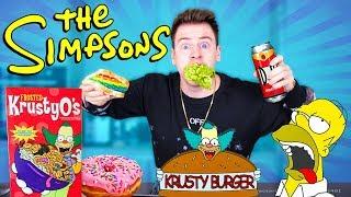 """So schmeckt das Essen von """"THE SIMPSONS"""" ! 😱 24 STUNDEN Edition  II RayFox"""