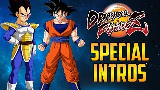 DBFZ ▰ Base Goku / Vegeta Special Intros, Dialogue & Dramatic Finish 【Dragon Ball FighterZ】