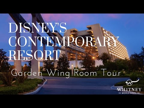Walt Disney World Contemporary Resort Garden Wing Rooms Youtube