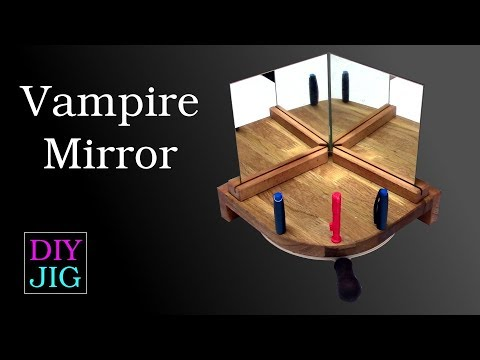 How to make a magic mirror where you can't see yourself – DIY JIG