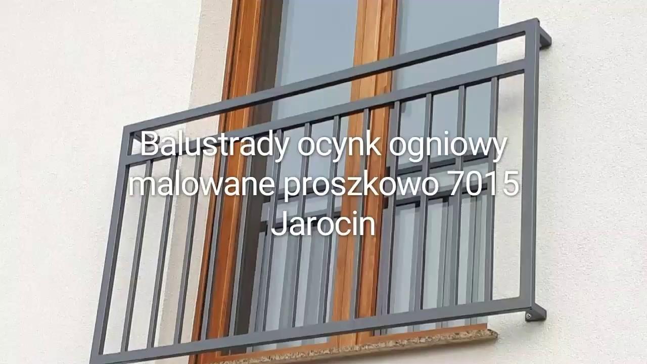 Rewelacyjny Balustrady balkonowe nowoczesne zewnętrzne - ocynkowane - malowane WY34