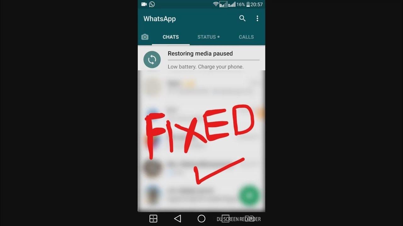 whatsapp backup paused waiting for wifi