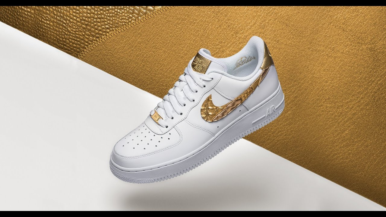 uk availability 515b7 38661 NIKE AIR FORCE 1 CR7 😎 GOLDEN PATCHWORK - YouTube
