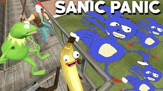 WE BUILD TO SURVIVE SANIC (Garry's Mod Gameplay) Nextbot Attack