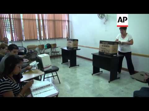 Voting starts in second round of presidential election in Costa Rica