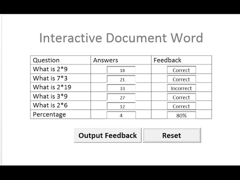 How to Create an Interactive Document in Microsoft Word - YouTube