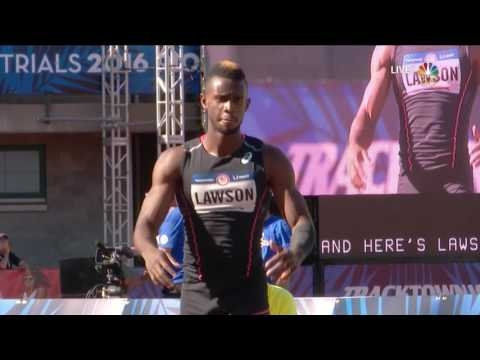 Olympic Track And Field Trials | Jeff Henderson Wins Long Jump