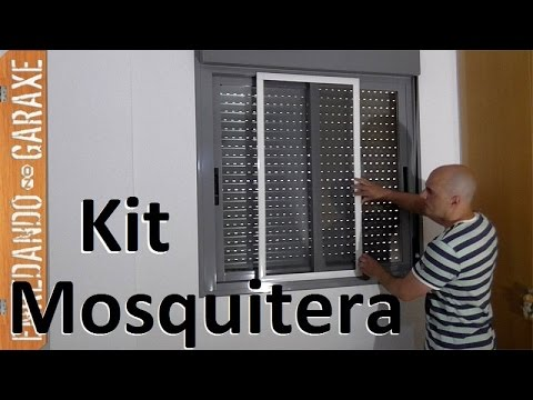 C mo montar e instalar una mosquitera de corredera en la for Instalar mosquitera corredera