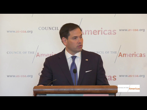 U.S. Senator Marco Rubio on Venezuela and a New U.S. Strategy in Latin America