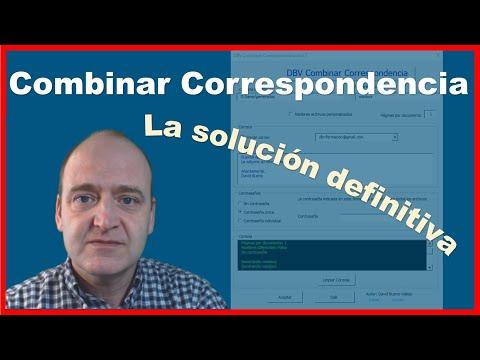 DBV Combinar Correspondencia - Ejemplo de uso e Instalación