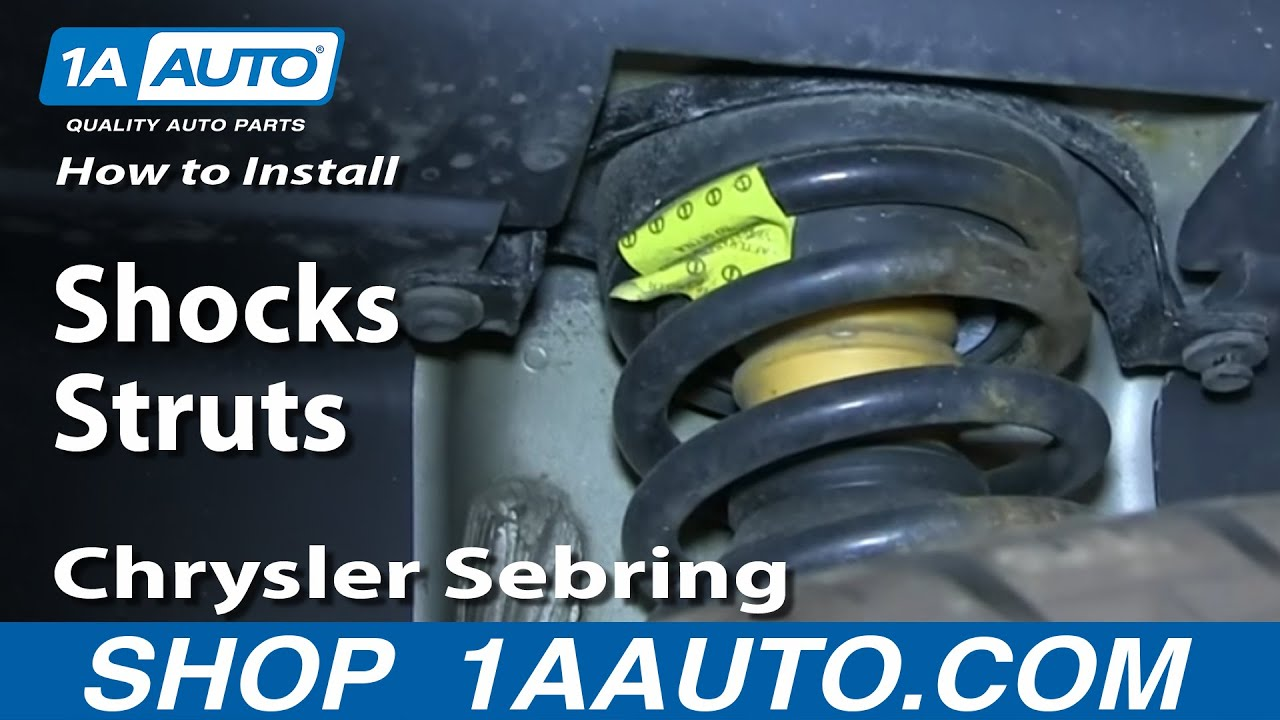 How To Install Replace Rear Shocks Struts 2001 06 Chrysler Sebring Dodge Stratus