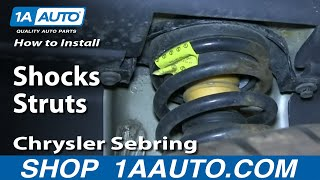 How To Install Replace Rear Shocks Struts 2001-06 Chrysler Sebring Dodge Stratus