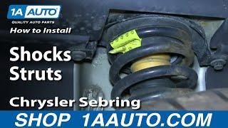 How Install Replace Rear Shocks Struts