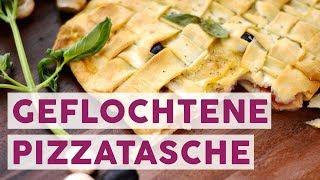 Alternative zur Pizza: Geflochtene Pizzatasche 🥧 | REZEPT