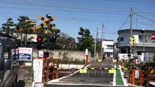 京王井の頭線 浜田山〜西永福の踏切を通過する1000系電車 thumbnail