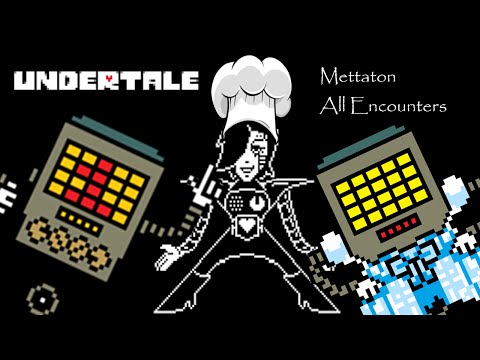 [Undertale Pacifist Run] All Mettaton Encounters