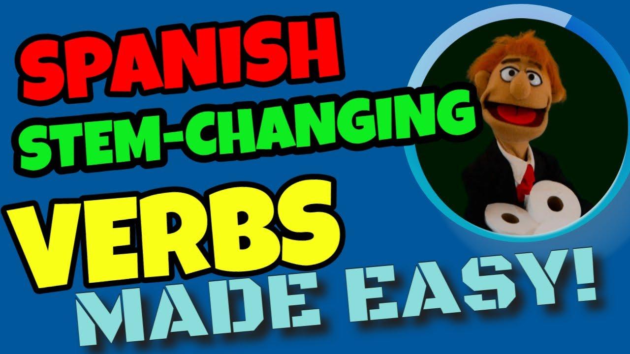 Youtube premium also spanish tenses present indicative stem changing verbs rh
