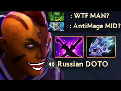 видео: МИДОВЫЙ АНТИМАГ! antimage vs 4 magic heroes dota 2
