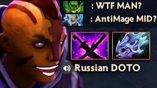 МИДОВЫЙ АНТИМАГ! ANTIMAGE vs 4 MAGIC HEROES DOTA 2