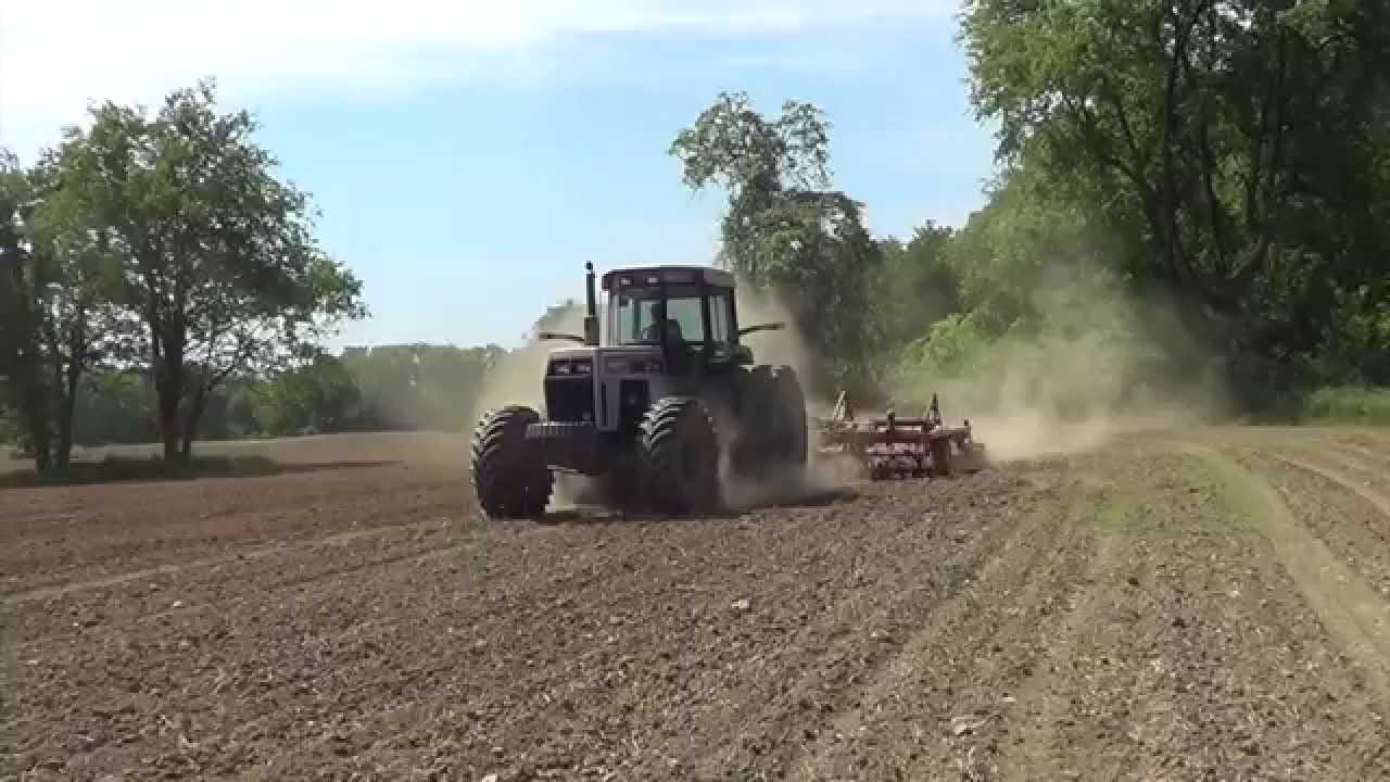 195 White Tractor : Working ground near greenford ohio with a white