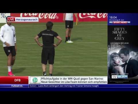 Joachim Löw/die Mannschaft – Training in Herzogenaurach 08/06/17