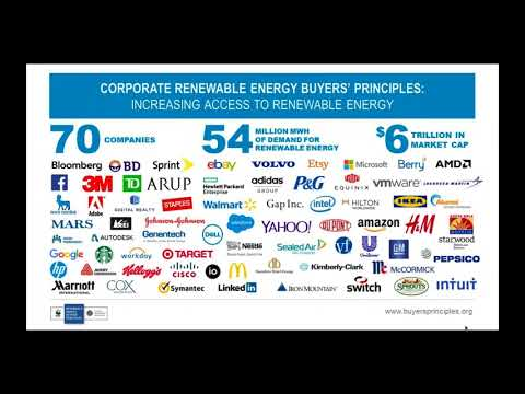 Webinar: Corporate Renewable Energy Buyers' Principles with WRI