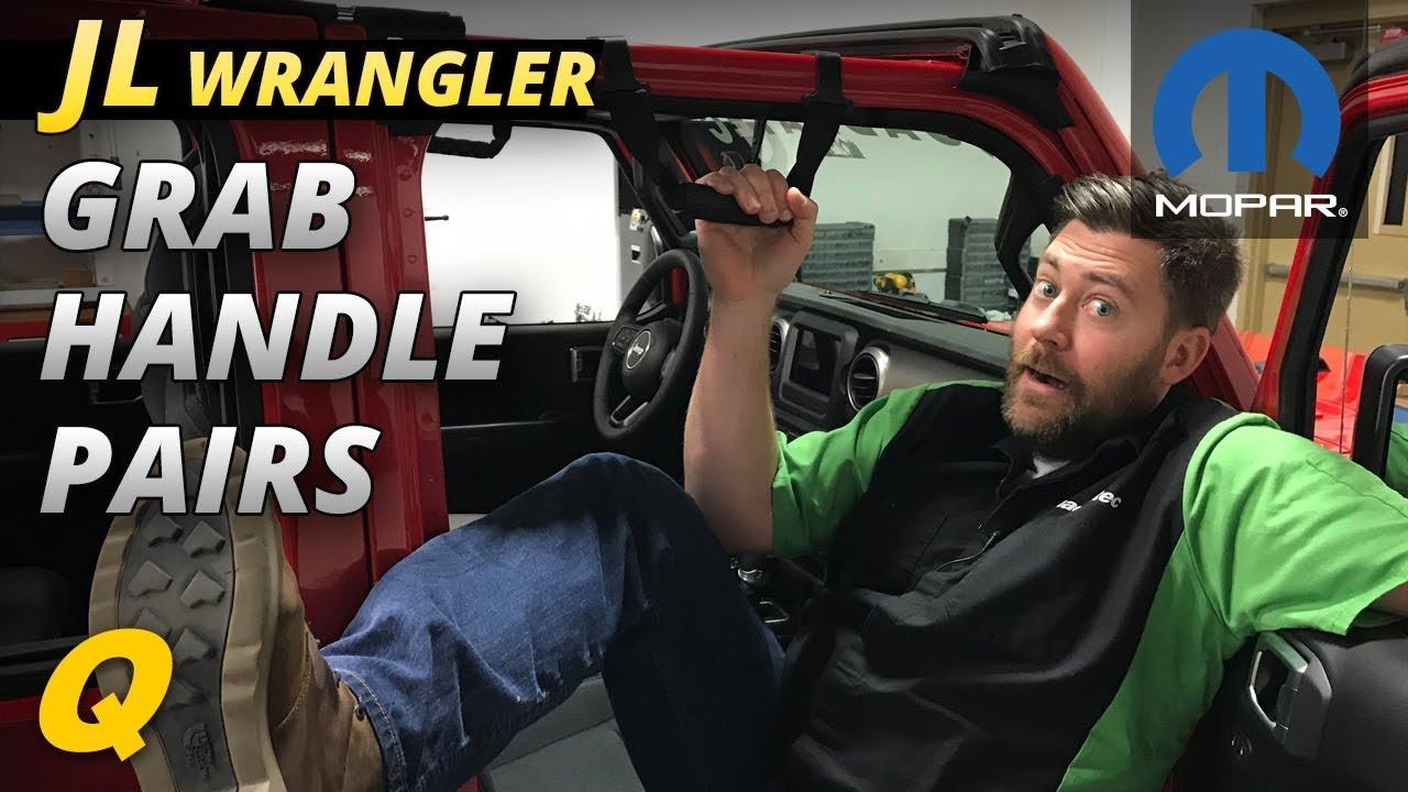 Mopar Grab Handles For 2018 Jeep Wrangler Jl Youtube