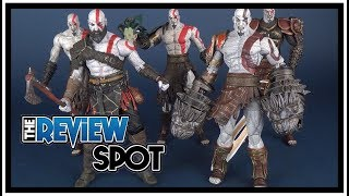 comparison comparing all the neca god of war kratos figures