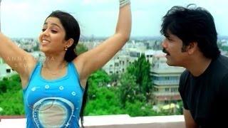 Charmi Tempting Nagarjuna Romantic Scene || Mass Movie || Nagarjuna, Jyothika