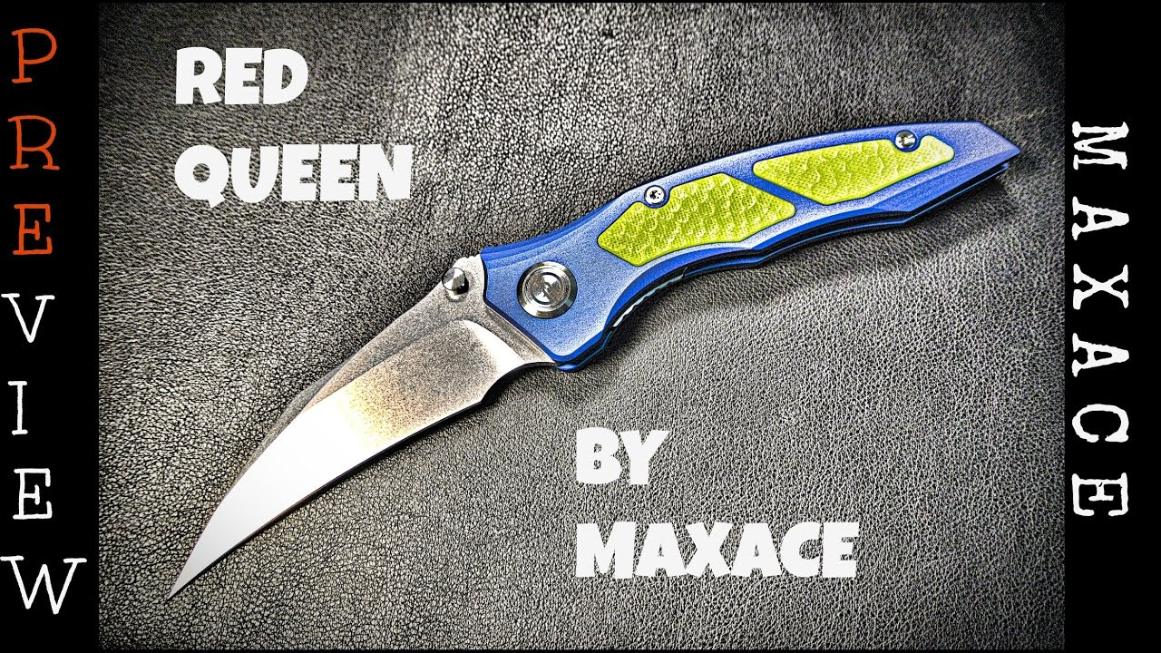 Preview : Maxace Red Queen Knife - Aluminum Version
