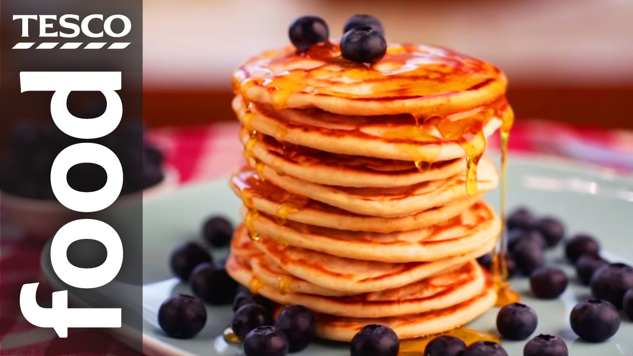 How to make american pancakes tesco food youtube ccuart Images