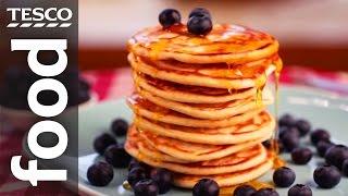 How to Make American Pancakes   Tesco Food