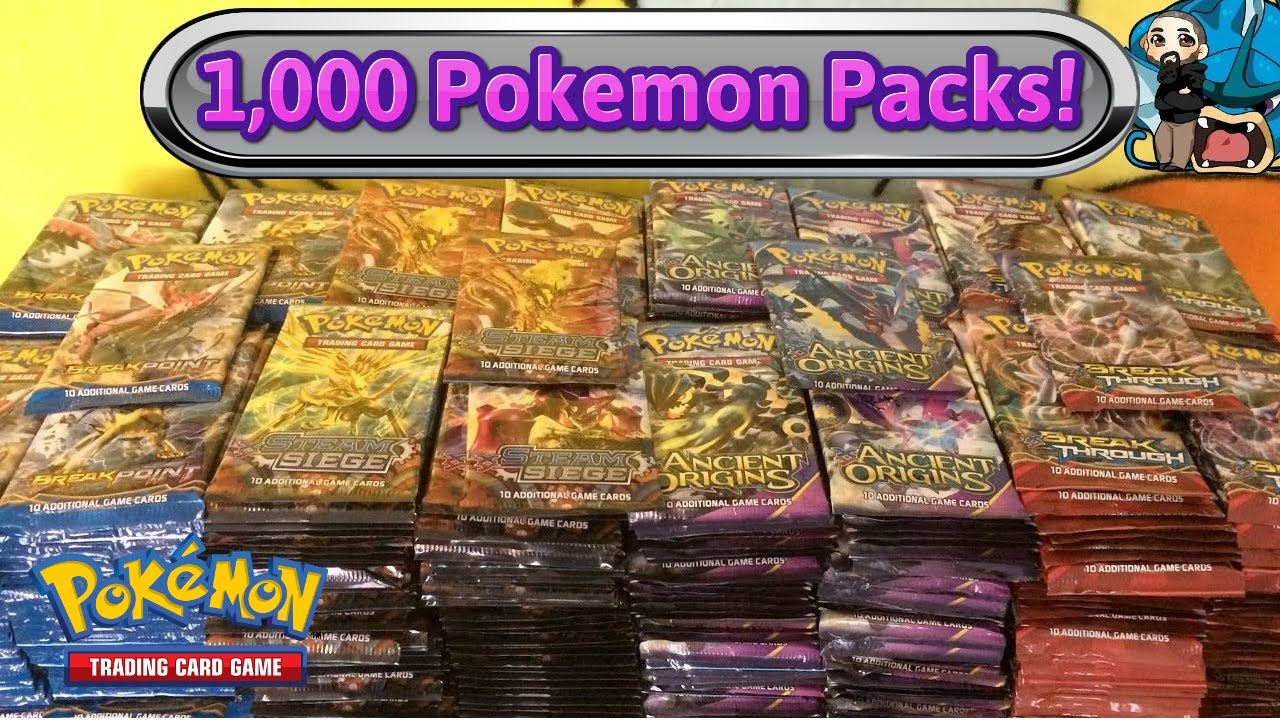 1000 pokemon pack opening largest pokemon tcg card opening on youtube youtube - Where Can I Sell My Pokemon Cards In Person
