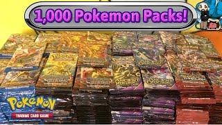 1,000 Pokemon pack opening! Largest Pokemon TCG card opening on YouTube!!