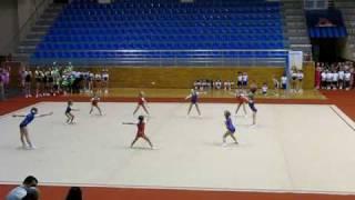 Выступление группы юных гимнастов (Праздник фитнеса)
