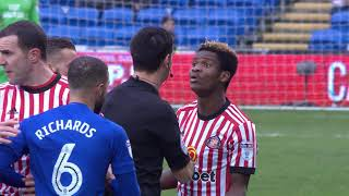 NDONG RED CARD v CARDIFF CITY