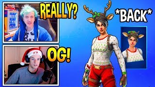 Streamers React To *RARE* RED NOSED RAIDER SKIN RETURNING To Fortnite! *OG* Fortnite Moments